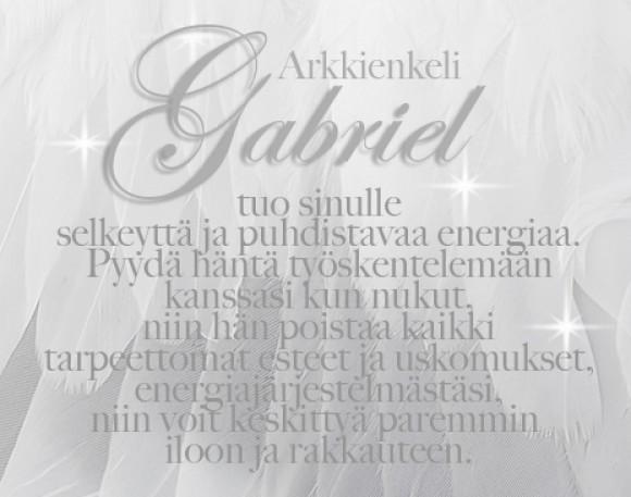 Anna arkkienkeli Gabrielin auttaa sinua
